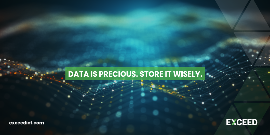 Data Is Precious. Store It Wisely.